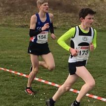 Amateur athletes on running track
